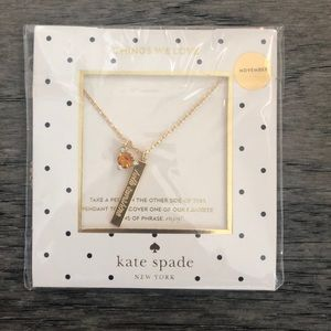 Kate Spade born to be November necklace